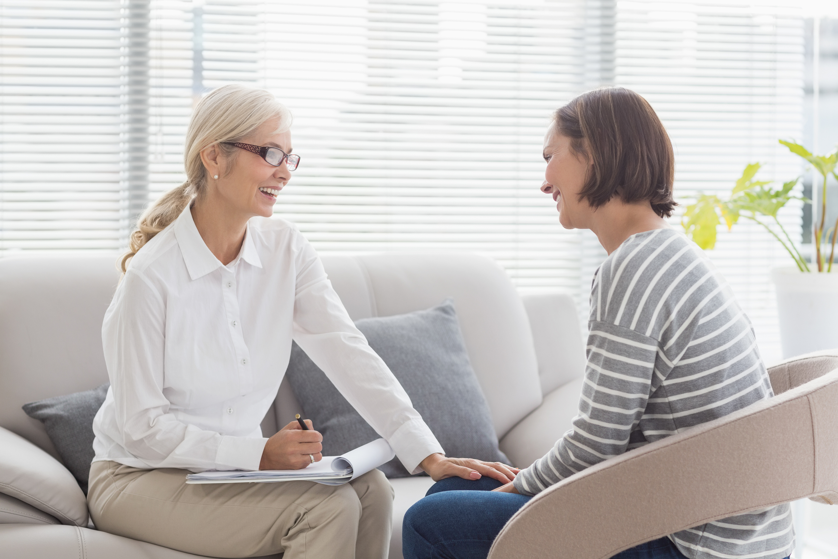 Behavioral Health Therapist with a patient